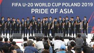 El acto de celebración de Corea del Sur