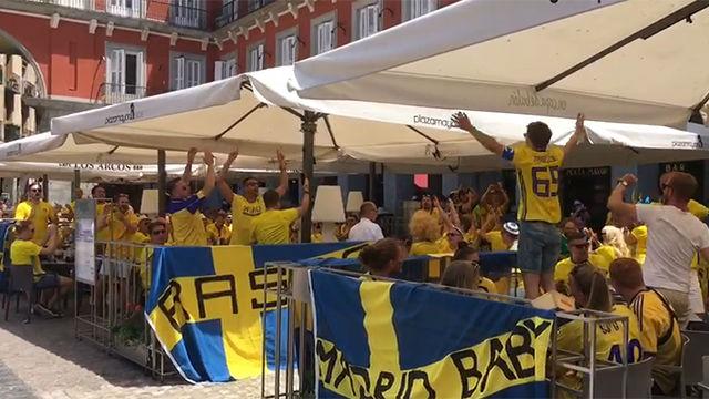 La afición de Suecia se deja notar en Madrid