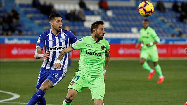 El Alavés vuelve a puestos europeos tras tumbar al Levante