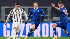 Álvaro Morata volvió a ver portería en la victoria de la Juve sobre el Dinamo 3-0