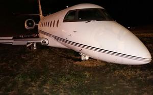 El avión accidentado de Cristiano