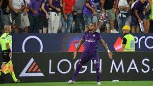 Boateng celebradno su único gol con la Fiorentina