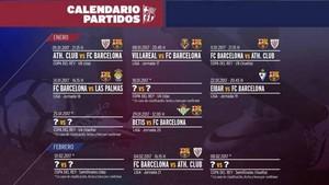 Calendario Del Barcelona.El Calendario Del Barca En El Mes De Enero De 2017
