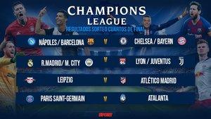El cuadro de cuartos de final de la Champions League