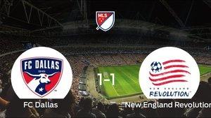 El FC Dallas y el New England Revolution se repartieron los puntos tras un empate a 1