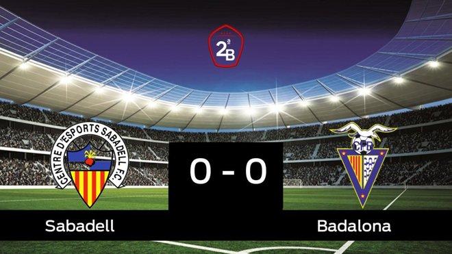 Empate, 0-0, entre el Sabadell y el Badalona