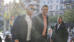 El exjugador de balonmano Andréi Xepkin, también acudió al funeral
