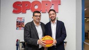 Ferran Aril visitó SPORT y departió con nuestro director Ernest Folch
