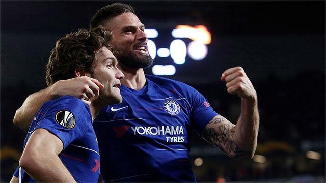 El gol de Marcos Alonso que pone en ventaja al Chelsea en la eliminatoria