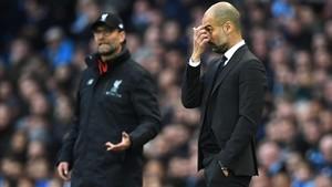 Guardiola y Klopp centraron todas las miradas