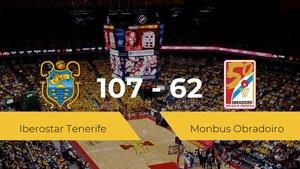 El Iberostar Tenerife se impone al Monbus Obradoiro por 107-62