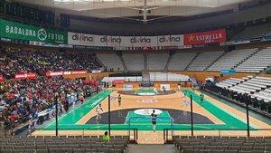 Industrias Santa Coloma disputó su primer partido en el Olímpic de Badalona