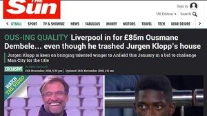 La información de The Sun sobre el Liverpool y Dembélé