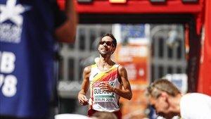 Javier Guerra, en la maratón de Berlín