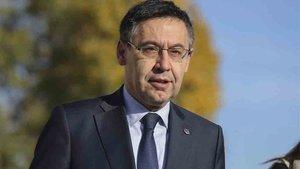 Josep María Bartomeu firmó el convenio con Pere Navarro