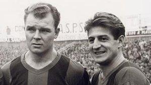 Kubala y Czibor, dos de los protagonistas de la goleada del Barça al Sevilla (5-0) en 1959