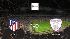 Los tres puntos se quedan en casa tras la victoria del Atlético de Madrid Femenino frente al Madrid Femenino (1-0)