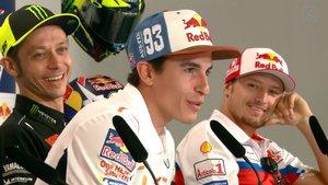 Márquez, Rossi y Miller, en rueda de prensa