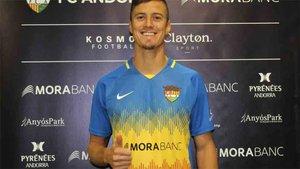 Martín Mantovani firma por el Futbol Club Andorra