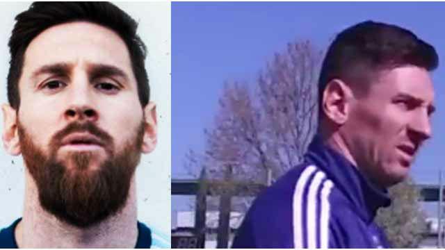Messi se cambia de look en el último entrenamiento antes de jugar contra Venezuela