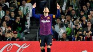 Messi lo celebró en tres ocasiones en el Villamarín