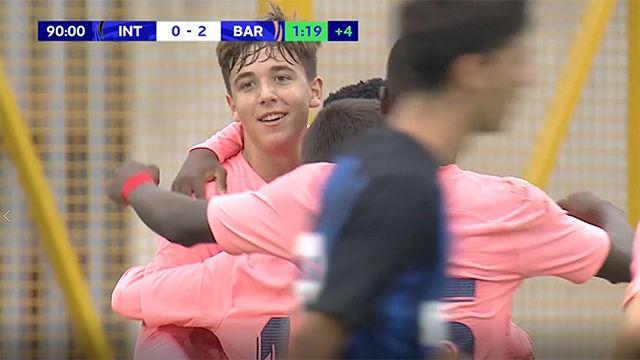 Nico, el hijo de Fran, se luce en la Youth League con un golazo
