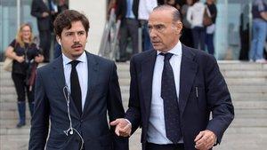 Oliver Albesa, derecha, en una imagen de archivo