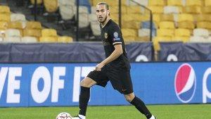 Óscar Minguez, en el día de su debut con el Barça ante el Dinamo