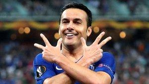 Pedro volvió a marcar en una final, su tipo de partido preferido.