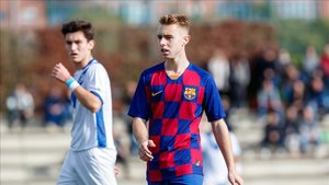 Peque fue uno de los protagonistas de la victoria del Barça B