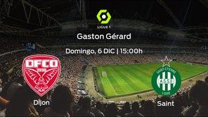 Previa del encuentro de la jornada 13: Dijon FCO - AS Saint Etienne