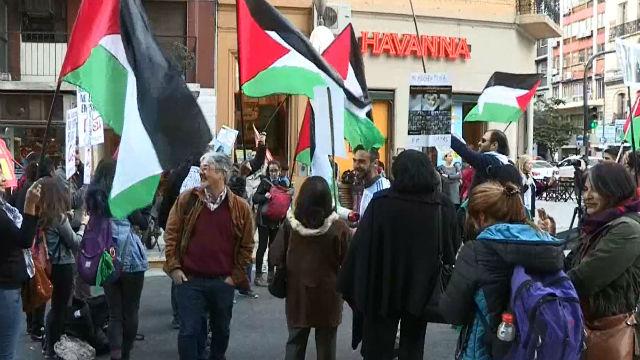 Protestas frente a la AFA para que se cancele el Argentina - Israel