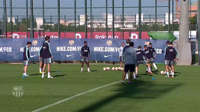 Rakitic se incorpora a los entrenamientos y Valverde sube a Chumi