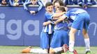 El RCD Espanyol celebra un gol en Nueva York