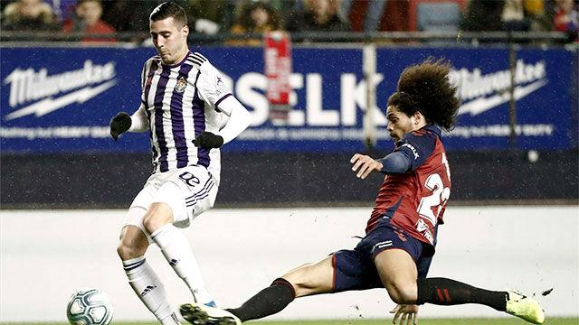 Reparto de puntos entre Osasuna y Valladolid en un partido igualado