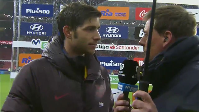 Sergi Roberto: ¿Messi o Ter Stegen? Esto es un trabajo de equipo