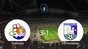 El Txantrea suma tres puntos a su casillero tras ganar al CD Fontellas (3-1)