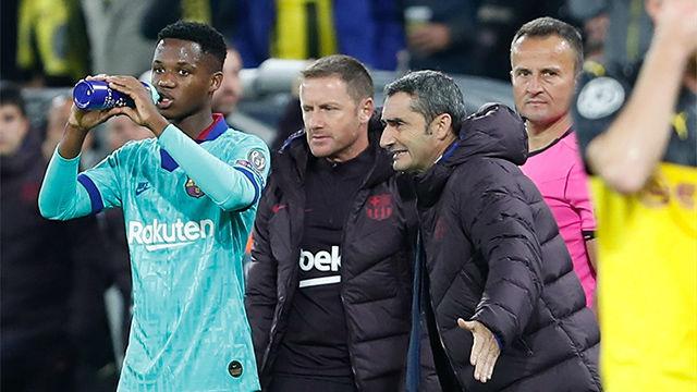 Valverde: Ansu Fati y Carles Pérez han dado un paso adelante y hay que tenerlo en cuenta