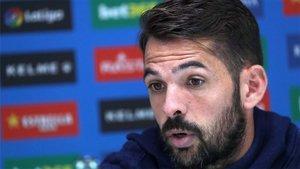 Víctor Sánchez, durante una rueda de prensa