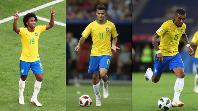 Willian, Coutinho y Paulinho, tres futbolistas de Bertolucci