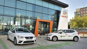 Unidades del Seat Ibiza TGI para el servicio de carsharing.