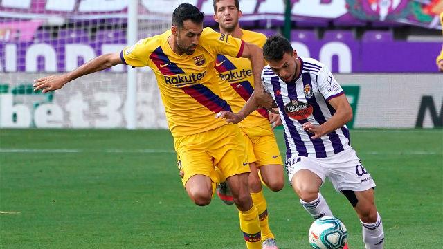 El 1x1 del Barça - Valladolid, al descanso