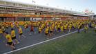 400 atletas corrieron sobre el trazado de F1
