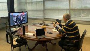 Alejandro Blanco, en una reunión virtual con las Federaciones