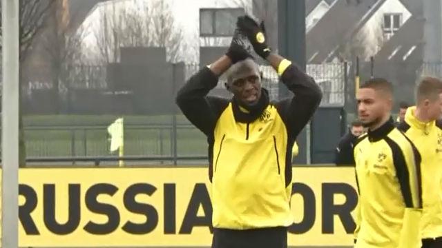 Así fue el entreno de Usain Bolt con el Borussia Dortmund