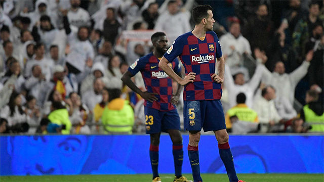 Un Barça fallón en el pase y en las ocasiones pierde el clásico y cede el liderano al Madrid
