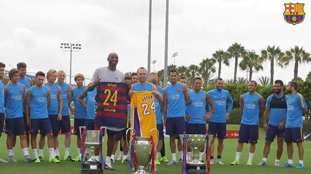 El Barça rinde tributo a Kobe Bryant