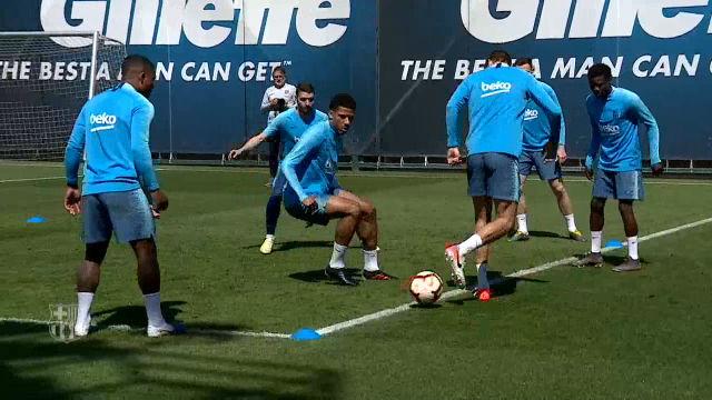 El Barça sigue con la puesta a punto para el último encuentro liguero