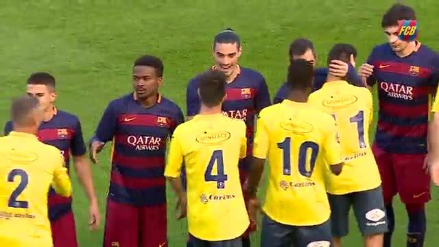 El Barça B vence al Olot