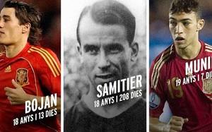 Bojan Krkic, Josep Samitier y Munir El Haddadi